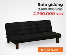 Sofa giường UMA TORONTO (Đen)