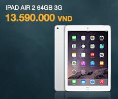 Máy tính bảng Apple iPad Air 2 64GB 3G (Vàng) - Hàng nhập khẩu
