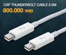 Cáp Apple thunderbolt Cable 2.0m (Trắng)