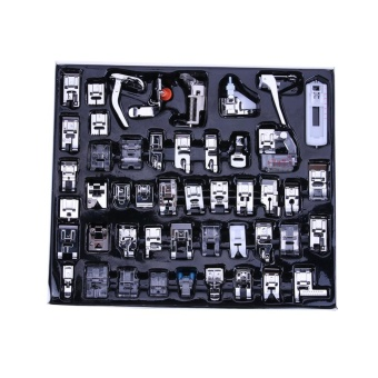 48pcs Multi-function Domestic Household Sewing Machine Press Foot(Silver) - intl