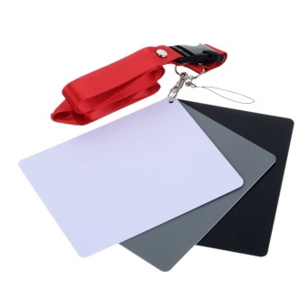 Photography Reference 18% Grey Card Set for Manual White Balance -intl