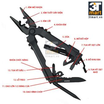 Kìm đa năng 3Tmart Tactical Multi Function Pocket Pliers GB-01 (đen)