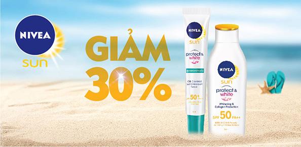Bộ serum chống nắng sáng da tức thì NIVEA SPF50 PA+++ 30m và sữa chống nắng dưỡng ẩm toàn thân NIVEA SPF50+ PA++++ 50ml
