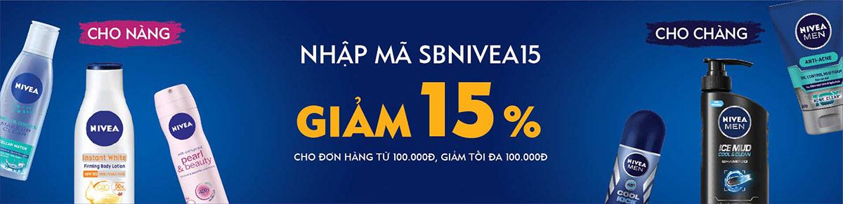 Mã Giảm Giá Lazada - Giảm 15% cho sản phẩm Nivea