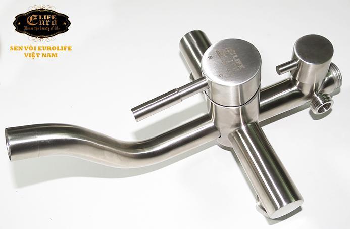 Bộ sen tắm đứng nóng lạnh Inox SUS 304 Eurolife EL-S918 (Trắng vàng)-7.jpg
