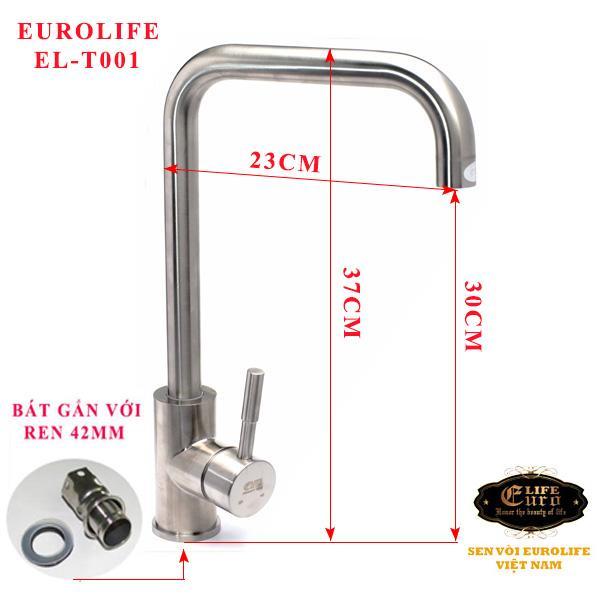Vòi rửa chén nóng lạnh Inox SUS 304 Eurolife EL-T001-5.jpg