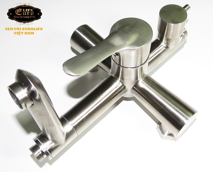 Bộ sen tắm đứng nóng lạnh Inox SUS 304 Eurolife EL-S917 (Trắng vàng)-4.jpg