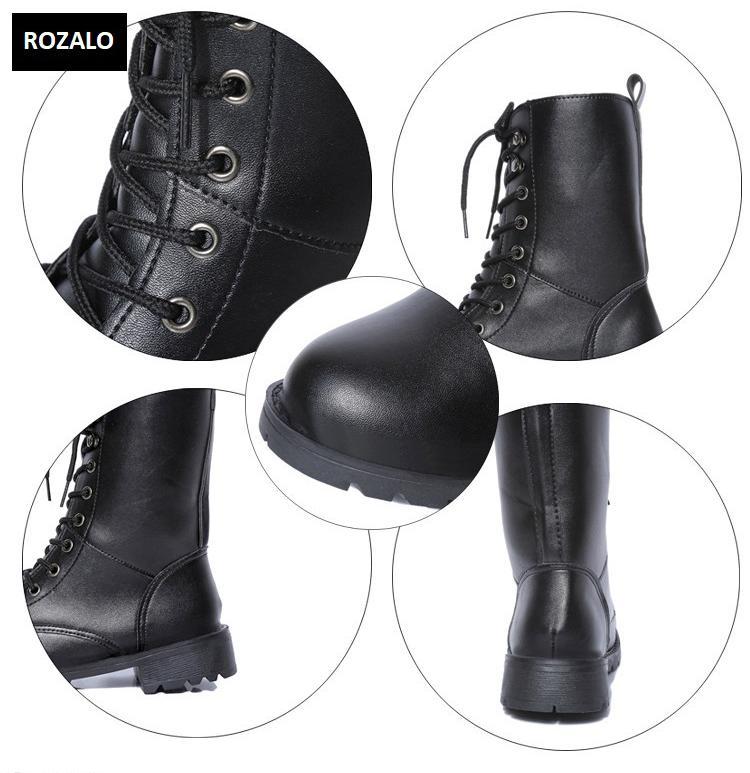 Giày boot nữ cổ cao đế thấp Rozalo RW67517B-Đen4.png