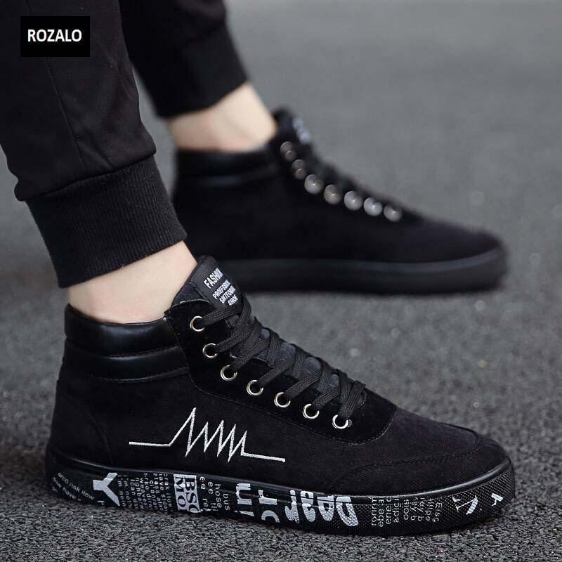 Giày vải casual nam cổ cao Zani Zn55709