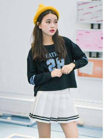 Váy Ngắn Xếp Ly Lưng Cao Hàn Quốc-BT Fashion VA025(Phối Viền-Hồng) - Ảnh 11