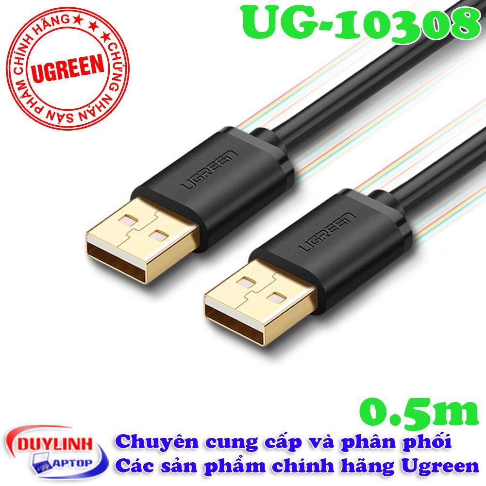 Dây  USB 2.0 hai đầu đực dài 05m Ugreen 10308