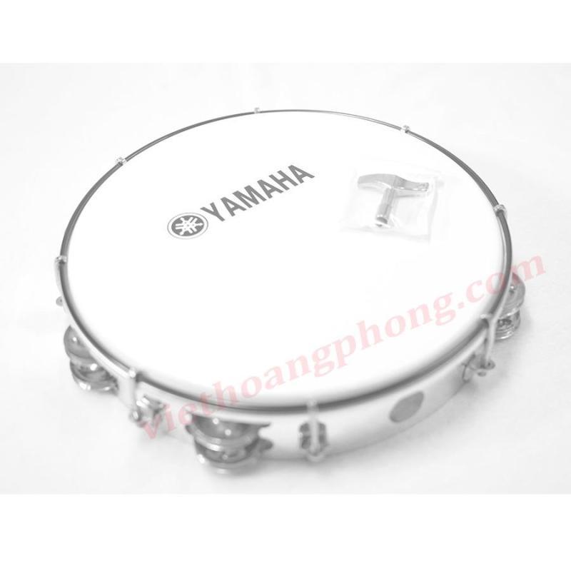 Trống lắc tay - trống gõ bo - Tambourine Yamaha MT6-102A (Trắng đục)