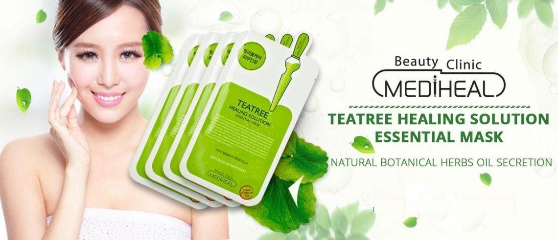 Kết quả hình ảnh cho Mediheal Teatree Healing Solution Essential Mask