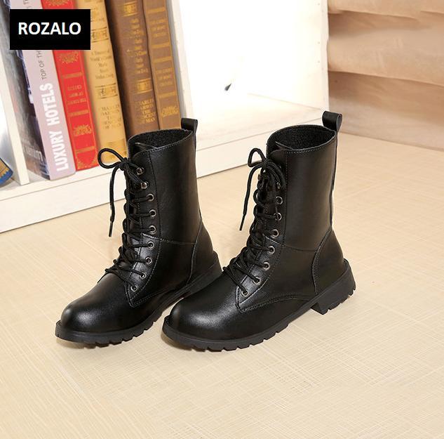 Giày boot nữ cổ cao đế thấp Rozalo RW67517B-Đen1.png