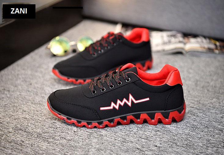 Giày sneaker thể thao nam Zani ZM65228BR-Đỏ