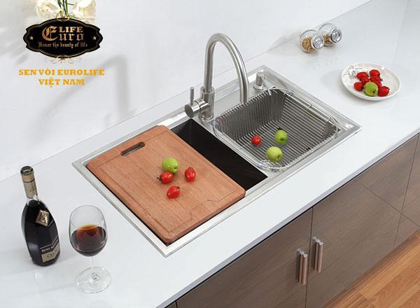 Chậu rửa chén Handmade Inox SUS 304 Eurolife EL-C1-5.jpg