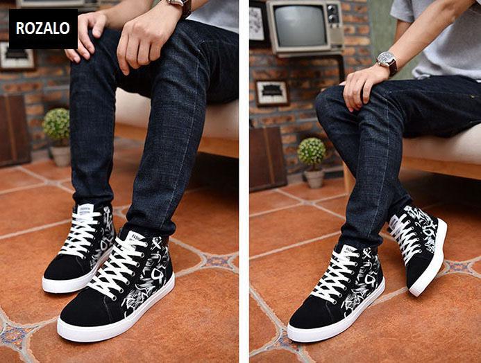 Giày cổ cao thời trang nam Rozalo RM6509B-Đen1.jpg