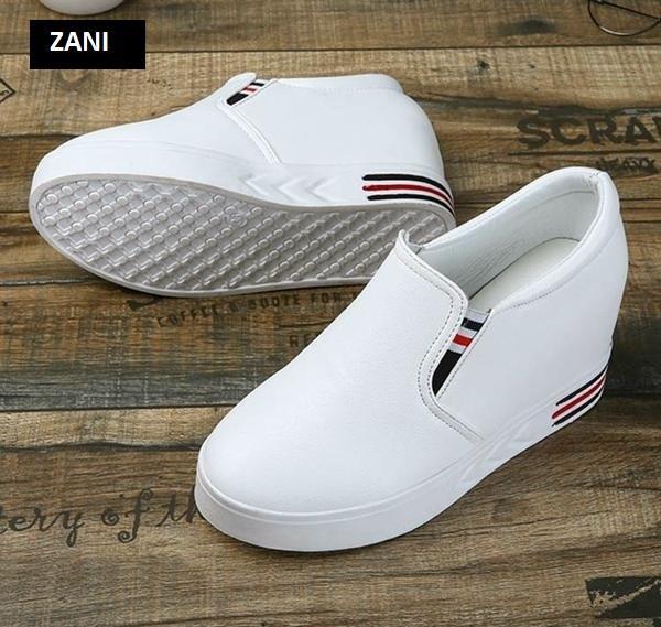 Giày lười  đế cao nữ ZANI ZNG3127W-Trắng