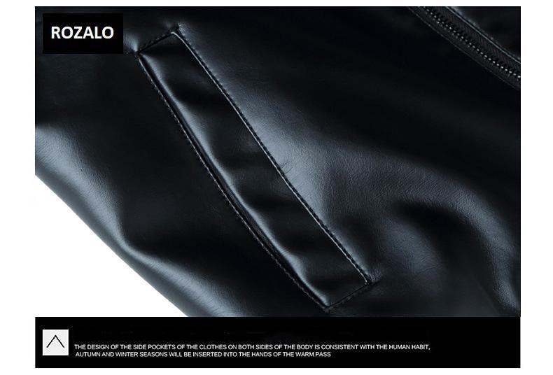 Áo da nam thời trang cổ tròn Rozalo RM8916B-Đen8.jpg