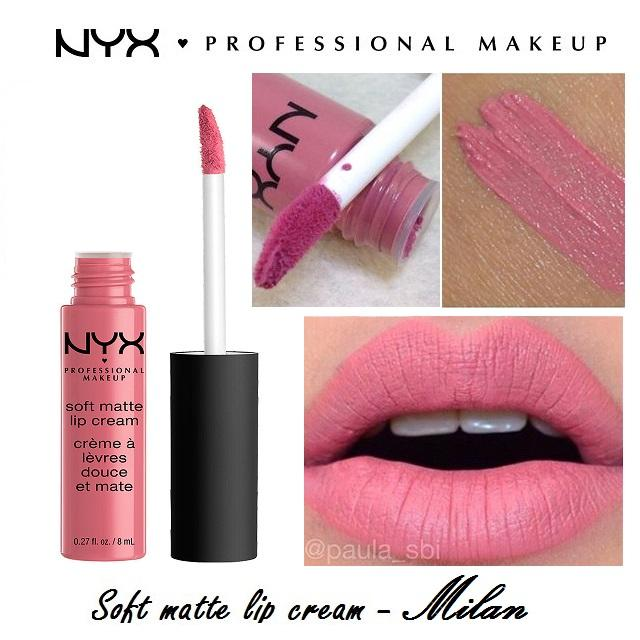 Son kem NYX Professional Makeup Soft Matte Lip Cream SMLC11 Milan