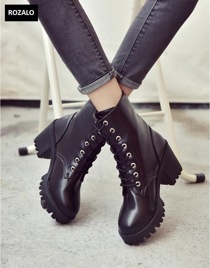 Giày boot nữ cổ cao đế vuông chống trượt Rozalo RW81130B-Đen1.png