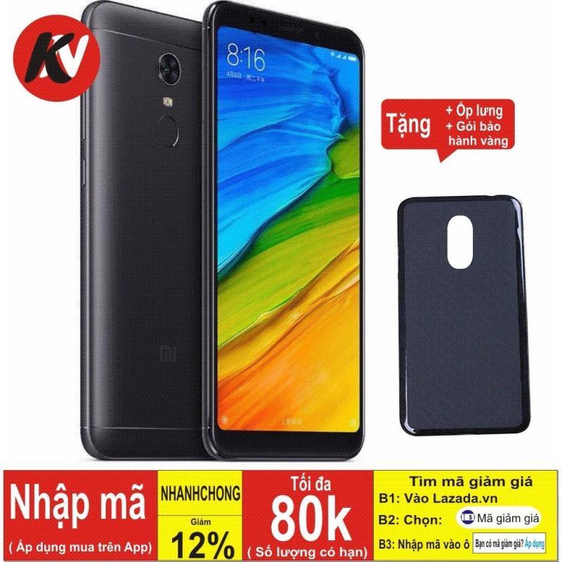 Xiaomi Redmi 5 Plus 64GB Ram 4GB Kim Nhung (Đen) - Hàng nhập khẩu + ốp lưng silicon + Gói bảo hành vàng
