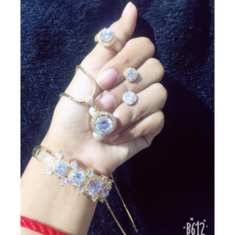Bộ Trang Sức Nữ Xi Vàng 18K TVB4031801 Gadoshop
