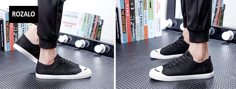 Giày vải  nam mũi bọc cao su dẻo vải chống mài mòn Rozalo RM56658 3.png