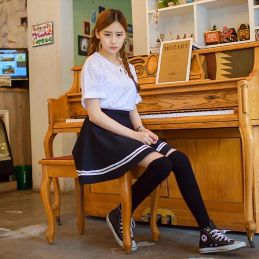 Chân Váy Xòe Phối Viền Hàn Quốc - BT Fashion (Lưng Thun-Đen) VA001a - Ảnh 8