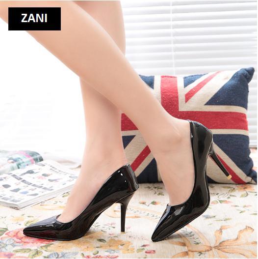 Giày cao gót nữ công sở 8cm Zani ZW31897B-Đen