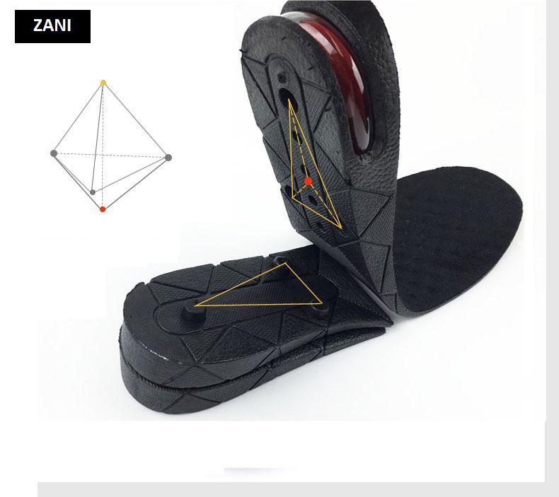 Bộ 2 miếng lót 3 lớp nâng cao giày nam Rozalo RM2588B