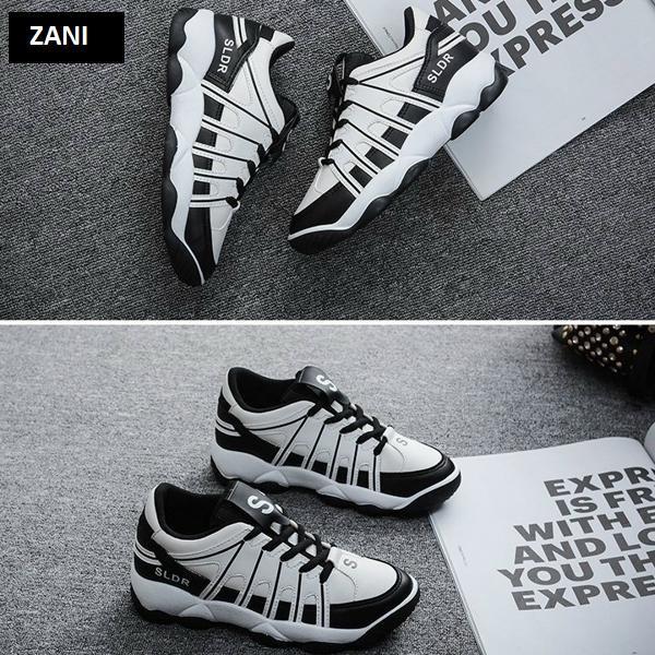 Giày sneaker thể thao nữ ZANI ZN2307GB-Xám Đen