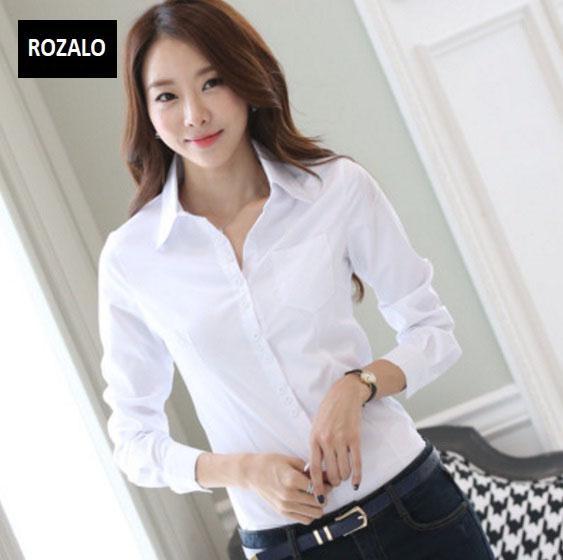 Áo sơ mi nữ dài tay thời trang công sở Rozalo RW3119W-Trắng9.jpg