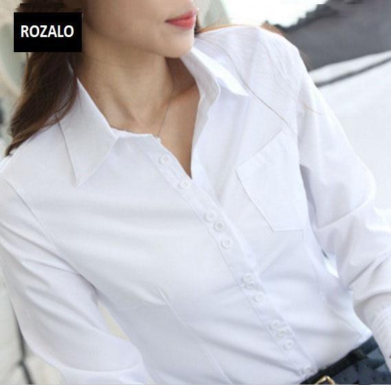 Áo sơ mi nữ dài tay thời trang công sở Rozalo RW3119W-Trắng7.jpg