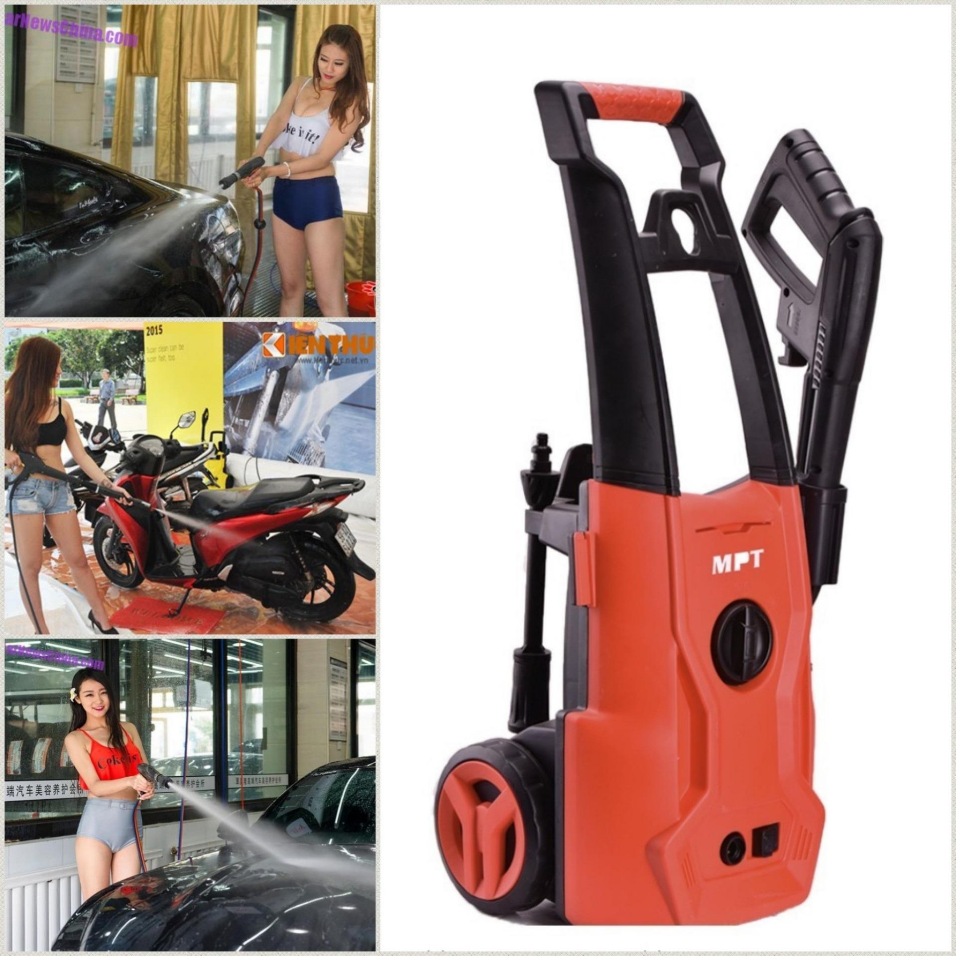 Gia máy bơm áp lực mini -Máy rửa xe gia đình loại tốt, giá rẻ MPT -Bảo hành 6 tháng
