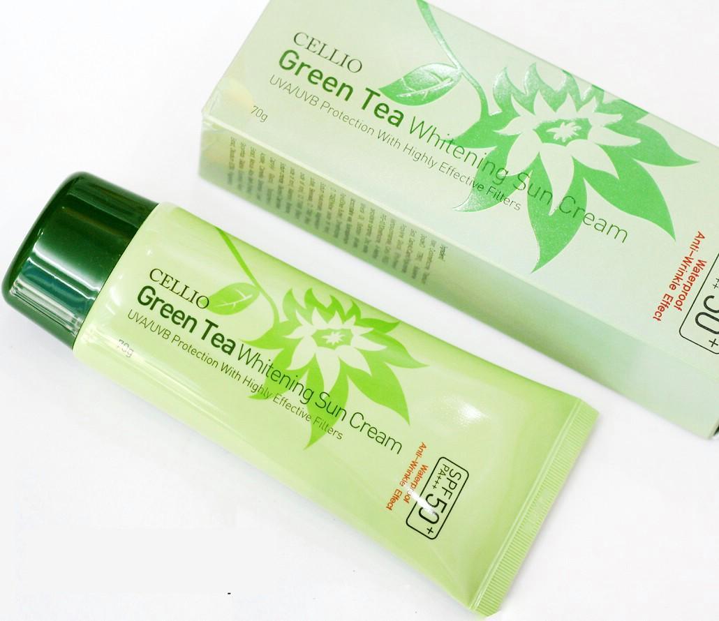 Kem chong nang Cellio Green Tea Whitening Sun Cream SPF50 PA.jpg