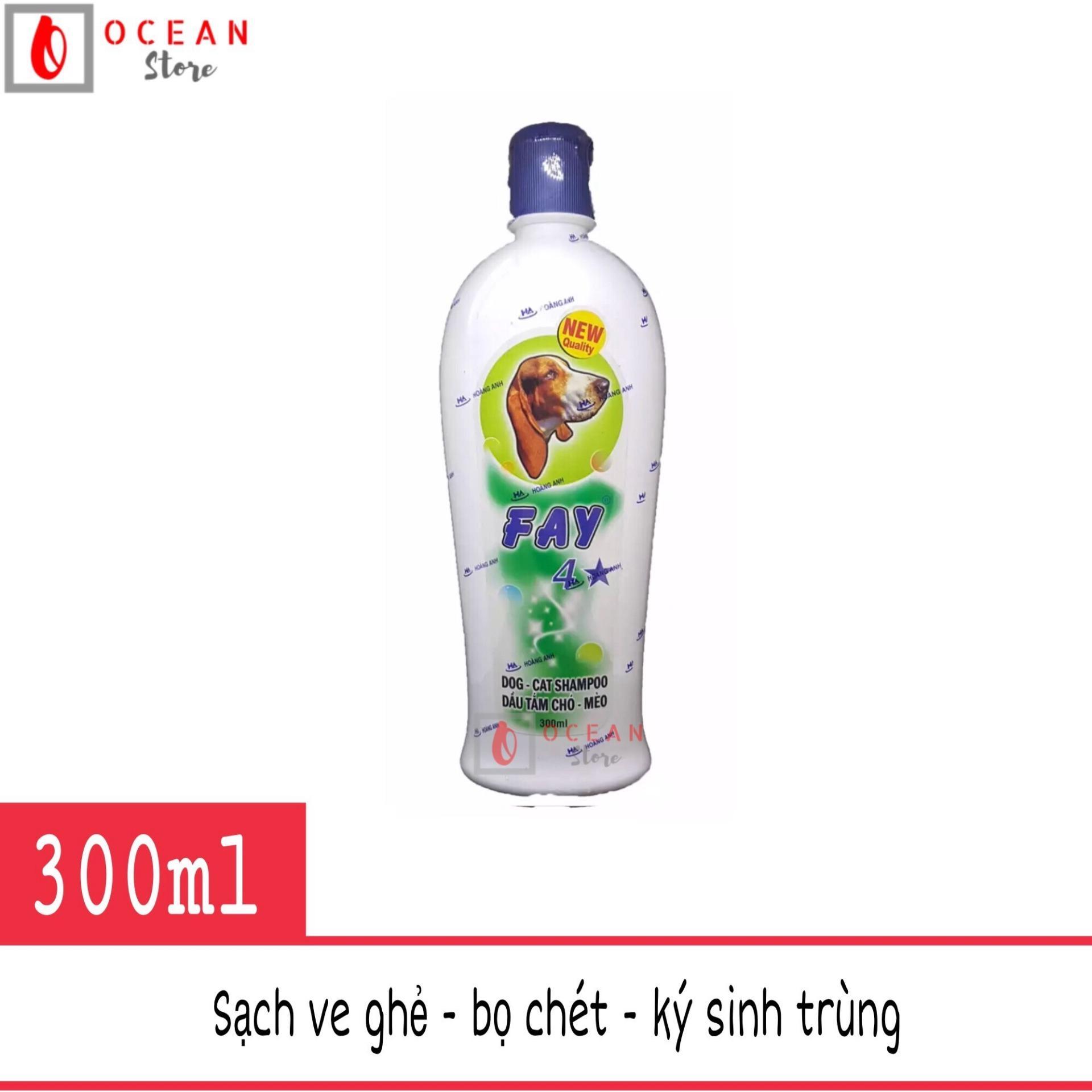 Sữa tắm diệt ve ghẻ, bọ chét, dưỡng lông, thơm lâu cho chó mèo - Fay 4 sao 300ml