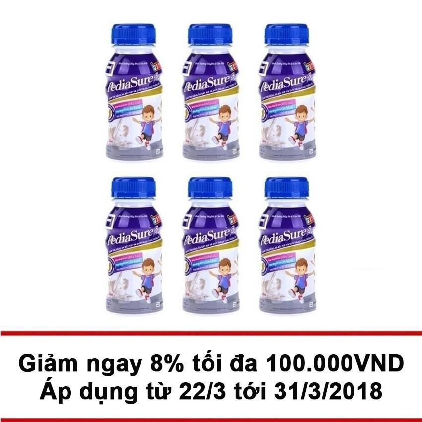 Bộ 6 hộp sữa Pediasure BA 3+ 237ml