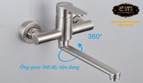 Vòi rửa chén nóng lạnh âm tường Inox SUS 304 Eurolife EL-1304-15.jpg