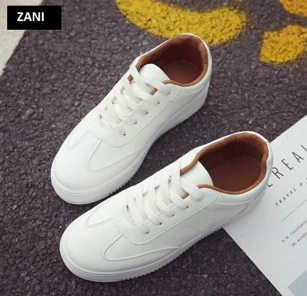 Giày thời trang nữ buộc dây ZANI ZW31102WB-Trắng