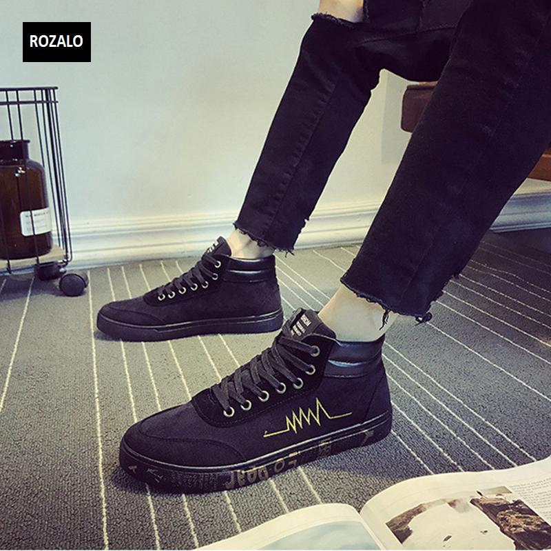 Giày vải casual nam cổ cao Rozalo RM55709 5.png