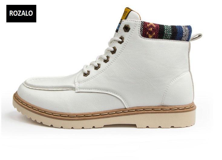 Giày nam cổ cao dã ngoại chống thấm đế bằng Rozalo RM58819W-Trắng.jpg