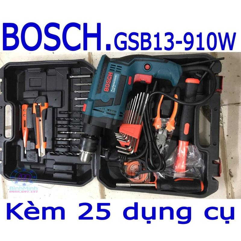 Máy khoan BOSCH GSB13+bộ 25 dụng cụ | bo may khoan bosch | bo may khoan da nang