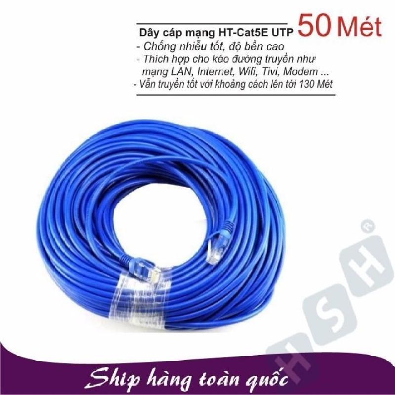 Bảng giá Dây cáp mạng LAN 50 Mét HT-CAT5E UTP - (Đã có 2 đầu) Phong Vũ