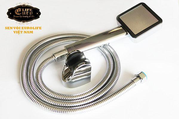 Bộ tay dây sen siêu tăng áp 1 chế độ nước chảy Eurolife EL-113SH-5.jpg