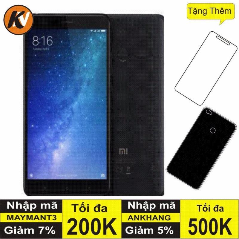 Xiaomi Mi Max 2 64Gb, Ram 4GB Kim Nhung (Đen) - Hàng nhập khẩu + Ốp Lưng + Cường lực