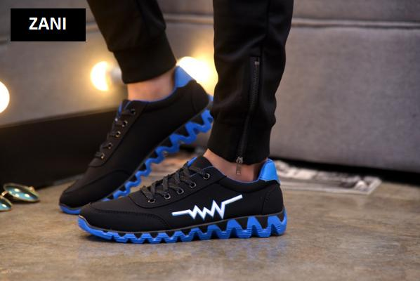 Giày sneaker thể thao nam Zani ZM65228BX-Xanh