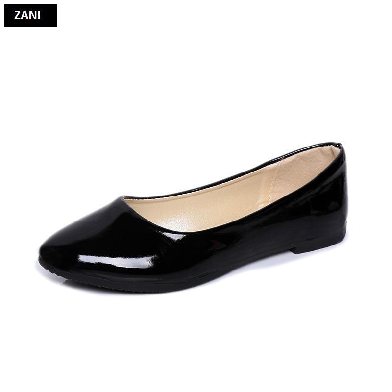 Giày búp bê đế bệt ZANI ZW85016B-Đen