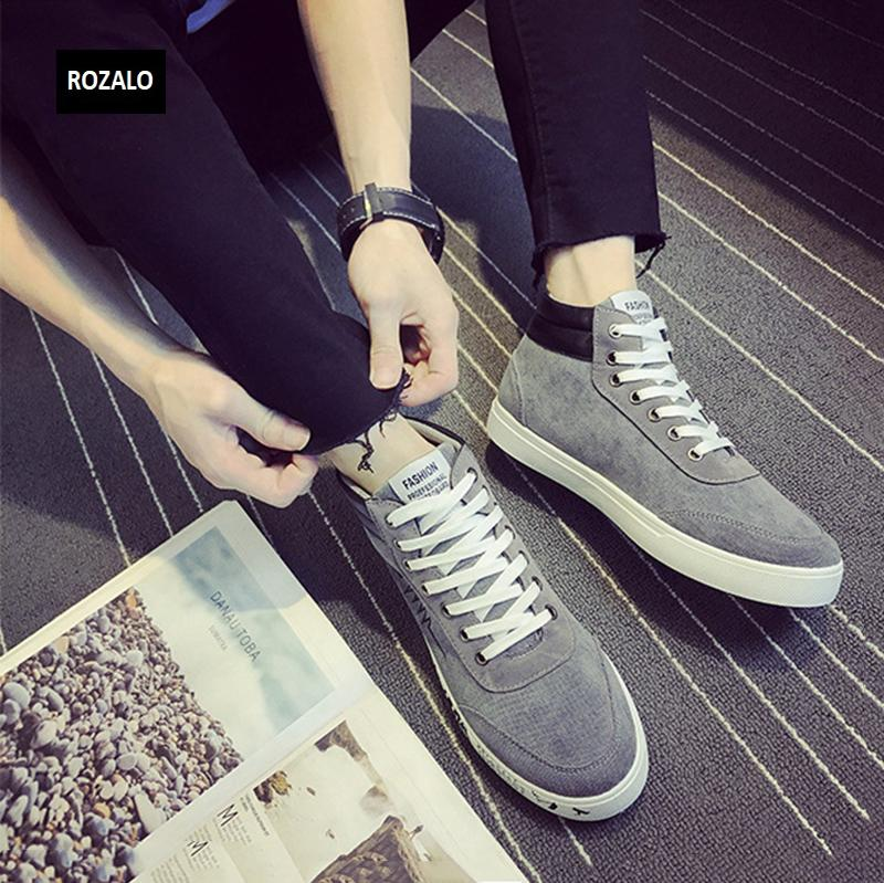 Giày vải casual nam cổ cao Rozalo RM55709 7.png