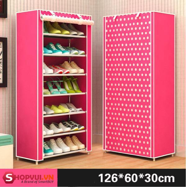 Tủ đựng giày dép 7 tầng hoa văn AK8 (màu ngẫu nhiên)